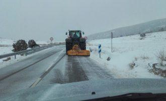 La Generalitat decreta emergència per nevades nivell zero en nou comarques de la Comunitat i demana extremar les precaucions en les carreteres
