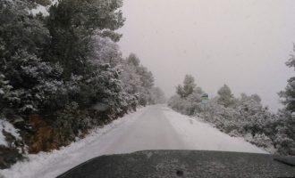 S'amplia l'Emergència per nevades a quatre comarques de l'interior de València