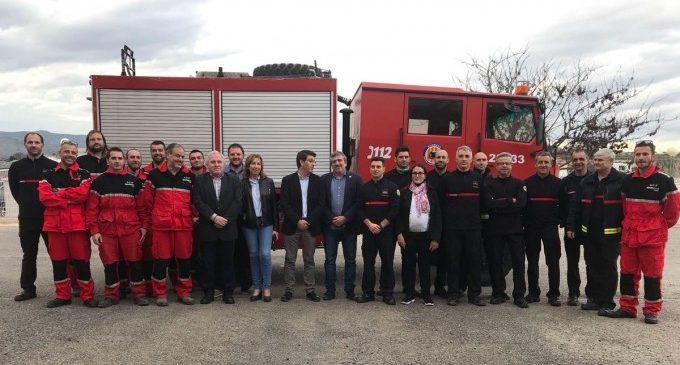La Diputació cedeix un camió de bombers als voluntaris de Mariola Verda per a millorar la seua resposta davant incendis