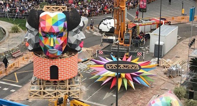 Okuda pintarà en directe la Falla Municipal