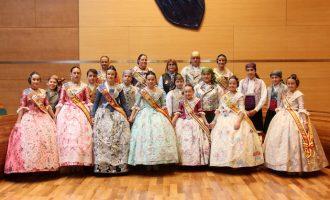Las comisiones falleras de Picassent participan en la recepción fallera celebrada en la Diputación de València