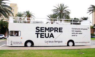 El Bus de la Llengua fa parada el Dia de la Infància a València