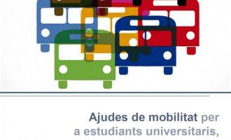 Los estudiantes de Llíria podrán recibir hasta 100 euros en ayudas al transporte