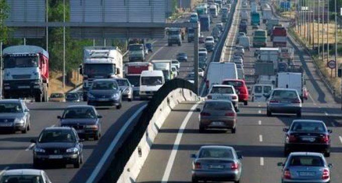 Trànsit calcula que el 15 d'agost hi haurà 3.200.000 moviments de vehicles en les carreteres valencianes