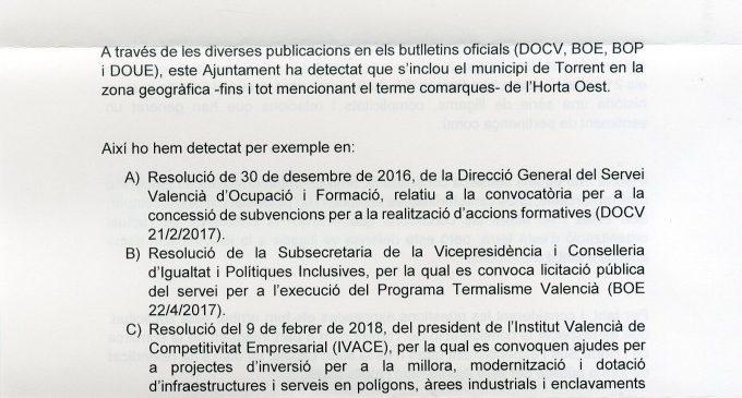 L'alcalde Jesús Ros reivindica la capitalitat de Torrent de la comarca de l'Horta Sud