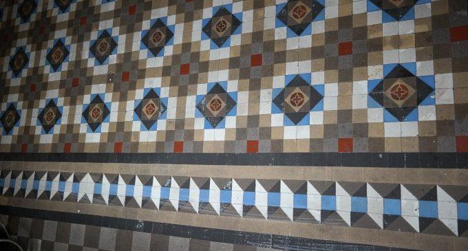 Hisenda restaurarà el conjunt de paviment Nolla descobert en el Palau de Calataiud