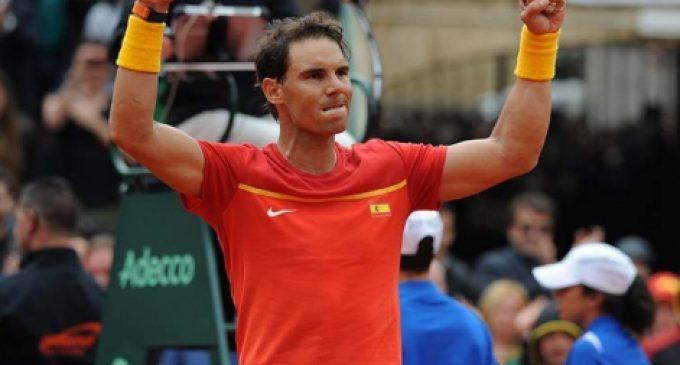 Nadal torna amb victòria i iguala la Copa Davis davant Alemanya a València