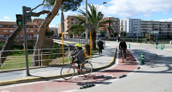 Urbanisme aconsegueix 108.000 euros de fons europeus FEDER per a completar la xarxa de carrils bici a Paiporta