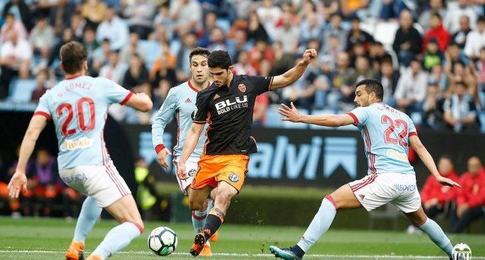 El Valencia CF mereixia molt més que l'empat davant del Celta en Balaídos (1-1)
