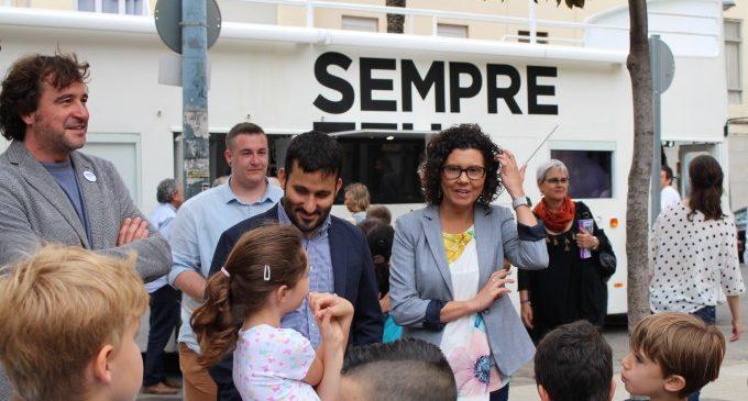 """Marzà: """"Paiporta és un exemple de la bona acollida que està tenint el recorregut del Bus de la llengua"""""""