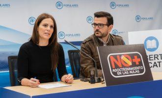 El web del PP contra l'adoctrinament en les aules desapareix