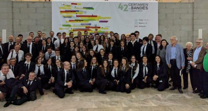 El 42 Certamen de Bandes Diputació de València tanca amb la victòria de la Societat Musical La Lira Fontiguerense en la Secció Primera