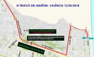 Afecciones en el tráfico por el triatlón del Marítimo