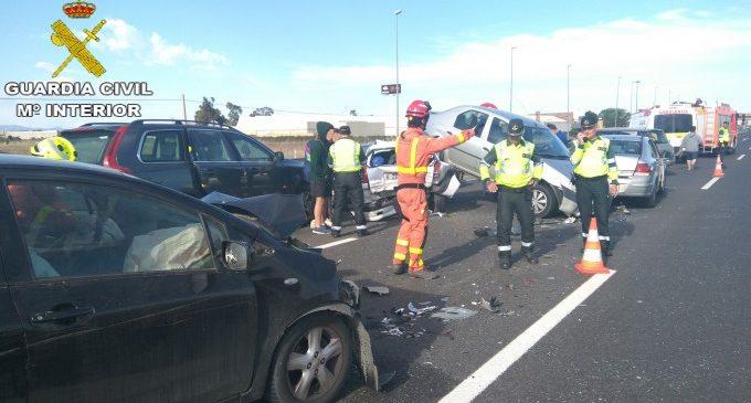 Tres conductors donen positiu en drogues en un accident múltiple