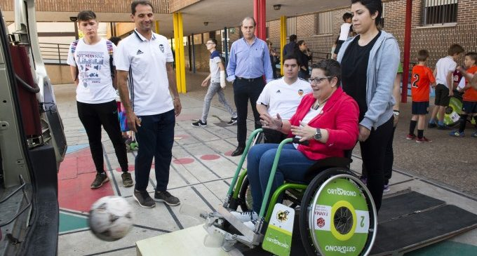 La Diputació se suma a la difusió del futbol en cadira en la seua aposta per l'esport inclusiu