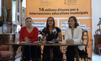 La Safor i la Vall d'Albaida milloraran els seus espais educatius municipals amb 3,5 milions d'euros d'inversió