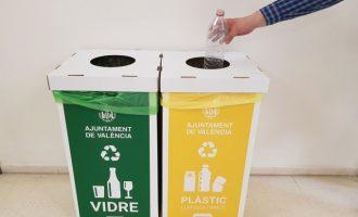 València implementa un sistema massiu de reciclatge als edificis municipals