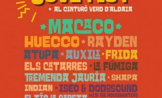Aldaia presenta un potente cartel para el Cinturó Jove Fest 2018