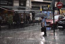 Alerta taronja per pluges intenses a València que poden aconseguir els 100 litres per m2 en 12 hores