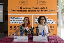 Els espais educatius municipals de l'Horta Sud milloraran les seues condicions amb la inversió de 2 milions d'euros de la Diputació