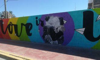Gandia reposarà el Mural de la Diversitat víctima d´un atac lgtbifòbic