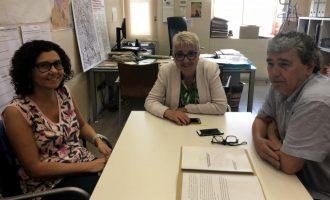 Reunió amb l'Ajuntament de València per a coordinar polítiques agràries i donar a conèixer el Banc de Terres