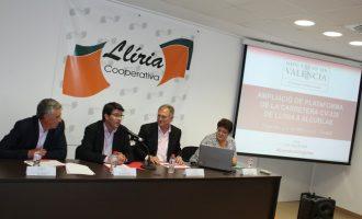 La Diputación invertirá 8,5 millones de euros en la ampliación de la carretera de Llíria a Alcublas