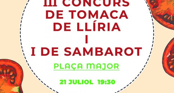 Obertes les inscripcions per a la primera edició del Concurs de 'Sambarot' i el tercer de 'Tomata lliriana'