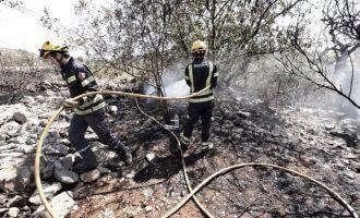 Estabilizado el incendio en el Pinaret de la Xara, en Dénia