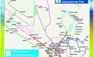Llíria amplia les línies de l'autobús urbà