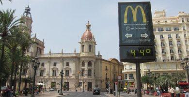Les temperatures cauran entre sis i vuit graus aquest dimarts a València