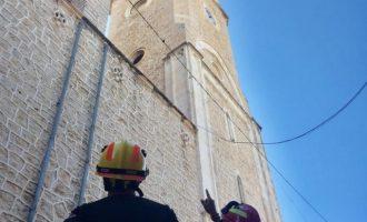 La parròquia de Benissa pateix la caiguda de rebles pel terratrémol amb epicentre a Teulada