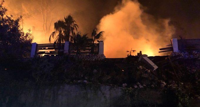 L'incendi de Llutxent arrasa 3.270,6 hectàrees després de quedar estabilitzat