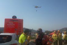 El foc de Llutxent comença a estar perimetrat, amb 1.500 hectàrees afectades
