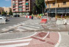 Comienza la construcción de carriles bici en las avenidas de Burjassot y Maestro Rodrigo