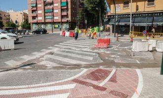 Comença la construcció de carrils bici a les avingudes de Burjassot i Mestre Rodrigo