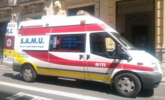 Dos heridos en un accidente de moto en la Gran Vía Marqués del Turia