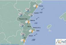 La gota fría traerá chubascos, tormentas y cielos nubosos a todo el territorio de la Comunitat Valenciana este domingo