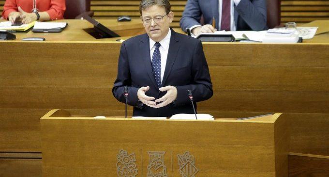 Puig respondrà en les Corts sobre compromisos polítics no concretats, els PGE i mesures davant la 'gota freda'