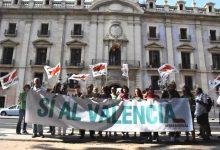 Escola Valenciana dóna suport a la concentració d'Intersindical Valenciana davant del TSJ