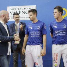 De la Vega i Carlos es proclamen campions del Trofeu Diputació de València de Frontó