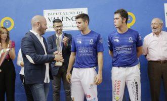 De la Vega y Carlos se proclaman campeones del Trofeo Diputació de València de Frontón