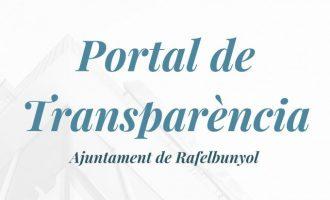 Rafelbunyol ultima la puesta a punto de su Portal de Transparencia