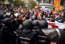 La ultradreta protagonitza moments de tensió sense èxit gràcies al desplegament policial