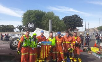 Los bomberos de Gandia, subcampeones del mundo en el Mundial de rescates de accidentes de tráfico