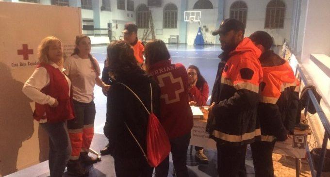Unes 27 persones passaran la nit en un pavelló de Borriana fins que siga segur tornar a les seues cases