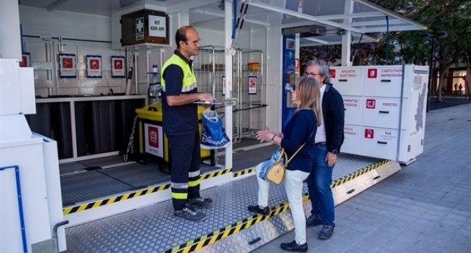 L'ecoparc mòbil del EMTRE torna a Mislata per a arreplegar residus contaminants