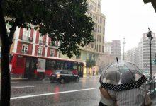 Aemet puja a alerta taronja per pluges fortes en la Comunitat Valenciana per a les pròximes hores