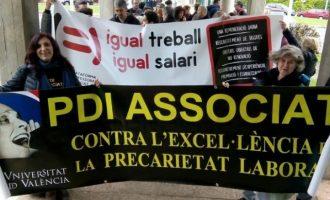 Professors associats de la UV convoquen vaga els dies 24 i 25 d'octubre i 28 i 29 de novembre