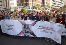 """Una gran manifestació diu """"NO"""" a la violència de gènere a València"""